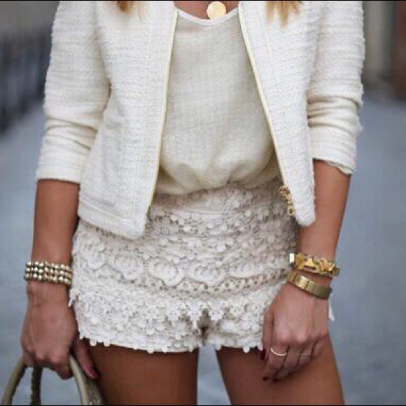 Zara Shorts Crochet Lace Poshmark